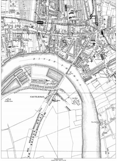 Map of 1888 showing the old Soap Works